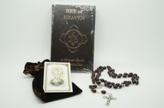 Gift set:Holy Spirit card,Rosary, and Keys of Heaven Book