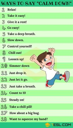25+ Ways To Say CALM DOWN In English
