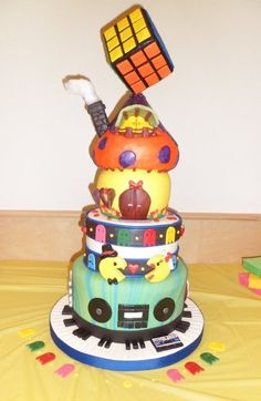 80's Jack and Jill Party Cake - by Joyce Nimmo @ CakesDecor.com - cake decorating website