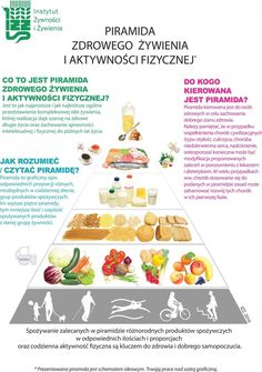 nowa piramida żywienia 2016 Yoga Routine, Yoga Fitness, Forever Freedom, Green Farm, Slow Food, How To Stay Healthy, Sugar Free, Healthy Lifestyle, Healthy Recipes