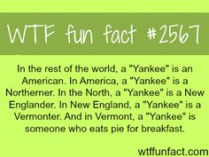 "What does the word ""Yankee"" mean - WTF fun facts"