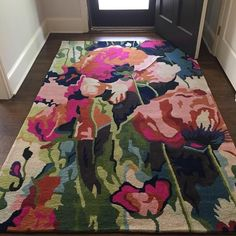 Chain-Stitched Poppies Rug #Anthropologie #MyAnthroPhoto