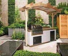 petite cuisine extérieure de design moderne