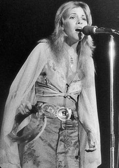 Stevie 1975, at a Fleetwood Mac show just after joining the band