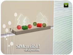 SIMcredible!'s Christmas Clutter 2012 - Candles & Glass Trees