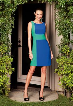 Cute color block dress. like the colors