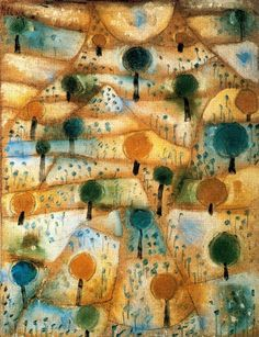 Paul Klee (Austria, 1879–1940). Small Rhythmic Landscape, ca.1920. Oil on canvas mounted on cardboard, 27.8 x 21.5 cm (11 x 8,5 in)