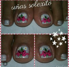 Pedicure Designs, Nail Art Designs, Toe Nail Art, Toe Nails, Cute Pedicures, Toe Polish, Christmas Nail Art, Hair And Nails, Finger