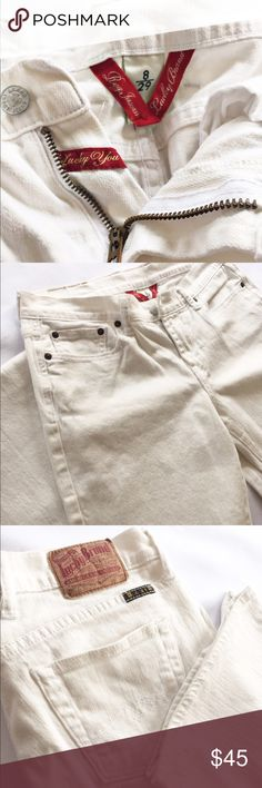 Sweet n Low boot cut jeans Beautiful white SweetnLows from Lucky. In excellent condition. No stains, tears or pulls. Reg Length. Lucky Brand Jeans