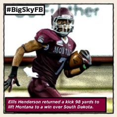 Your ROOT SPORTS #BigSkyFB Special Teams Player of the Week in @Montana Grizzlies' Ellis Henderson #GoGriz