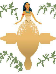 Pocahontas - Disney Princess - Free Printable Disney Princess Box