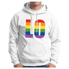 b46b34eee65 Amazon.com  LO - Half of Love Hoodie Hooded Sweatshirt Pro Gay Lesbian  Couple Boyfriend Girlfriend Transgender Human Rights Pride Love Equality  Marriage ...
