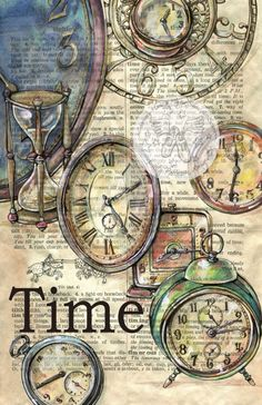 Dictionary Art - Time
