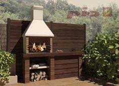Barbacoas a medida   Chimeneas Pio Outdoor Kitchen Patio, Outdoor Oven, Outdoor Living, Barbeque Design, Grill Design, Patio Deck Designs, Yard Design, Pergola, Gazebo