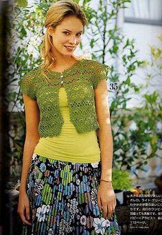 Crochet bolero, free pattern.