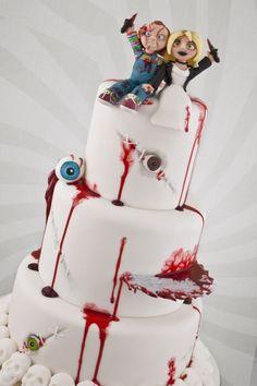 Black Cherry Cake Company make some pretty killer wedding cakes ideal for Halloween weddings!