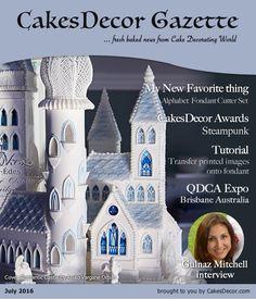 Print transfer method Cake This Tute!   CakesDecor Gazette Issue 5.07 / July 2016