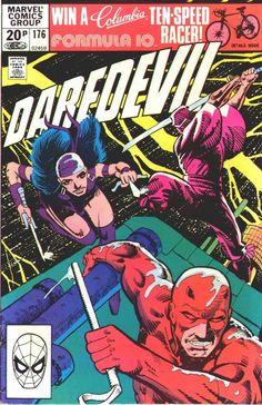 Daredevil #176, november 1981, cover by Frank Miller.
