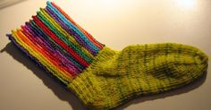 Circus Striped Socks Since I have been enthralled of late with garter stitch and finding the perfect picot edge, ( Baktus Beret ) the urge ...