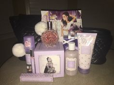 so so happy and glad and thankful to have this! Ari Perfume, Ariana Merch, Ariana Grande Perfume, Sweet Like Candy, Viva Glam, Bath And Body Works, Girly Things, Moonlight, Thankful