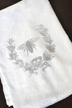 vintage image citrisolv fabric transfer {french tea towel tutorial} | Little Birdie Secrets