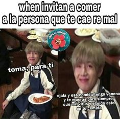 Read from the story MEMES DE BTS 3 by Ktxebae (𝐮𝐰𝐮) with reads. Foto Jungkook, Foto Bts, Bts Taehyung, Namjoon, Kaneki, K Pop, Funny Quotes, Funny Memes, Memes Humor