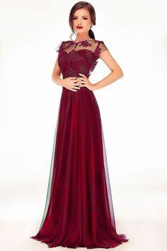 Long evening gown made from precious lace and fine veil: https://missgrey.org/en/dresses/erin-burgundy-dress/401?utm_campaign=august&utm_medium=rochie_erin_bordoutm_source=pinterest_produs