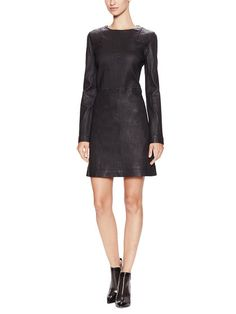 Lena Leather A-Line Dress