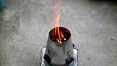 ウッドガスストーブ自作 百均材料で簡単な仕組み 工具は缶切りだけ