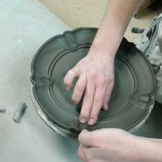 Playing with the rims of plates thrown yesterday.
