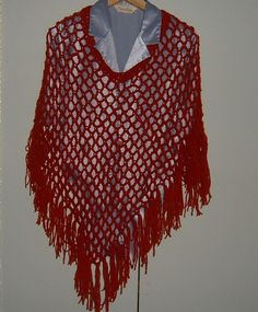 lady's crochet poncho ref 453 £15.00