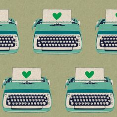 Typewriters Neutral ~ Ruby Star Shining @sewmamasew