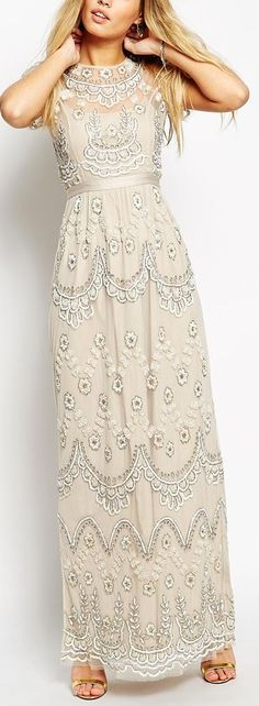 embroidered petal dress