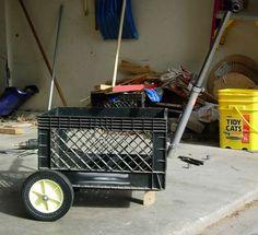 Pull Along Farmer's Market Milk Crate Cart