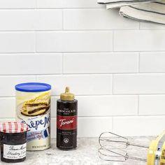 Ivy Hill Tile Vintage White in. x 9 in. x 10 mm Ceramic Wall Mosaic Tile sq. - The Home Depot Ceramic Subway Tile, Glass Subway Tile, Glass Mosaic Tiles, Buy Tile, Best Floor Tiles, Style Tile, Glazed Ceramic, Vintage Ceramic, Ceramics