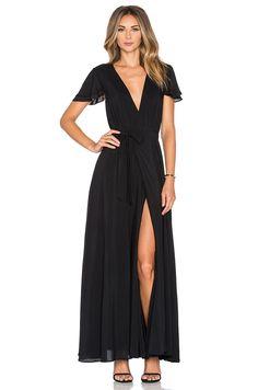 THE JETSET DIARIES Lorenzo Maxi Dress in Black