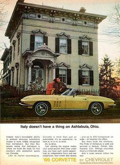 Vintage Cars 1966 Chevrolet Corvette Poster Print Vintage Chevy by AdVintageCom - Chevrolet Corvette, Corvette C2, Classic Corvette, Chevy, Corvette History, Classic Chevrolet, Vintage Advertisements, Vintage Ads, Car Brochure
