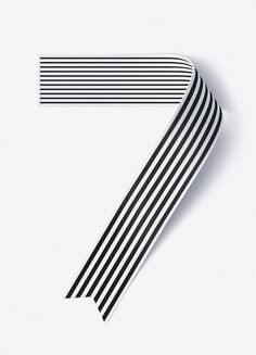 Shanghai Ranking Numerals — illustration, stripes, black & white | typography / graphic design: Sawdust |