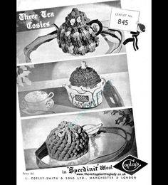 Copleys 845 Vintage Crochet Tea Cosies 3 Patterns Tea Cosies, Cozies, Tea Cozy, Crochet Basics, Vintage Crochet, Vintage Patterns, Cosy, Knit Crochet, Two By Two