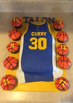 Stephen Curry birthday cake