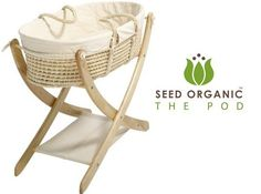 NEW! Seed Organic POD: Eco-Friendly Moses Basket and Cradle | Inhabitots