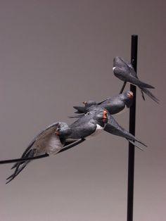 "JeremyJamesCeramics.co.uk | ""swallows"" detail"