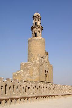 MINARET of Egypt, Cairo, ninth century mosque of Ahmad Ibn Tulun, Abbasid governor of Egypt, 868-84