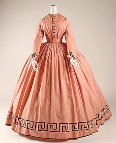 c.1862 Cotton/wool day dress
