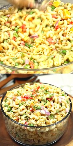 This Easy Macaroni Salad recipe is the perfect side dish to bring to Summer BBQ'. This Easy Macaroni Salad recipe is the perfect side dish to bring to Summer Best Salad Recipes, Pasta Recipes, Dinner Recipes, Cooking Recipes, Healthy Recipes, Healthy Salads, Salads For Bbq, Lunch Recipes, Salads For A Crowd