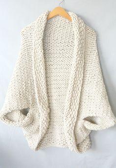 Knit Kit - The Easy Knit Blanket Sweater - Lion Brand Yarn