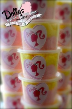 Barbie Cotton Candy 25 Pack of 16oz Cotton by Dollyscottoncandy, $55.00