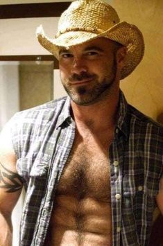 Hot Men, Hot Cowboys, Country Men, Daddy, Hot Hunks, Bear Men, Sexy Shirts, Hairy Chest, Guy Pictures
