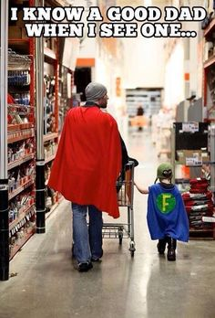 Just throw on a cape and take your son to Home Depot. Awesome!