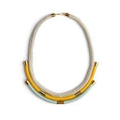 Cleopatra Necklace - Saffron/Mint       | Eleanor Bolton